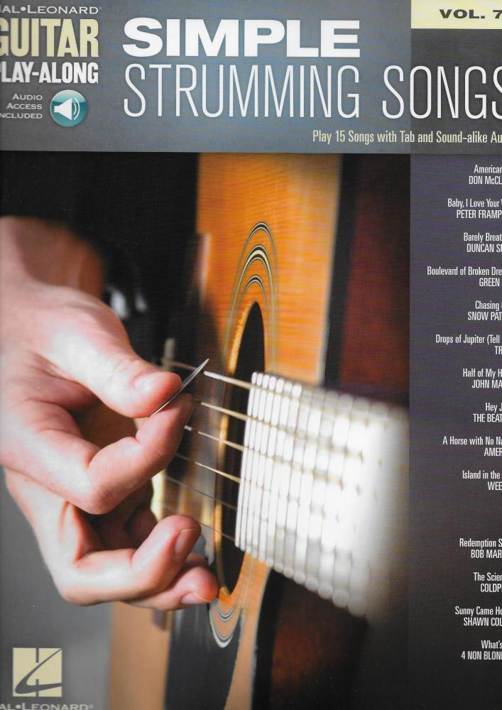 Guitar Play-Along Volume 74: Simple Strumming Songs (Book/Online Audio)