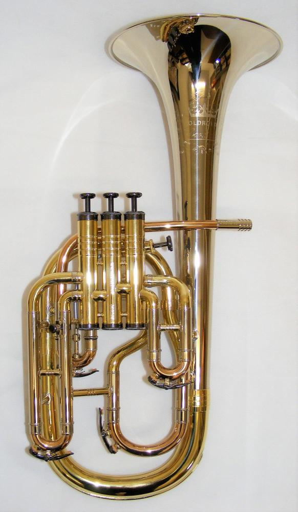 Geneva Oldroyd Cardinal Tenor Horn - Nickel, Rose Brass