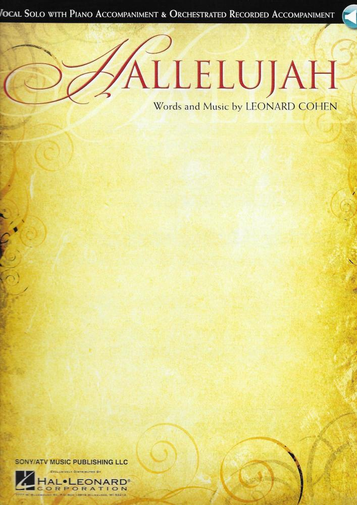 Leonard Cohen: Hallelujah - Vocal Solo/Piano Accompaniment (Book/Online Aud