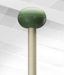4-Light Green Rubber (Medium) Mallet - Unwound Series