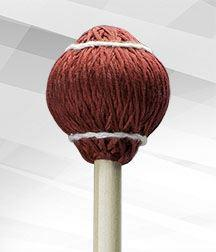 24-Red Cord (Soft) Mallet - Pro Vibe Series, Rattan Handles