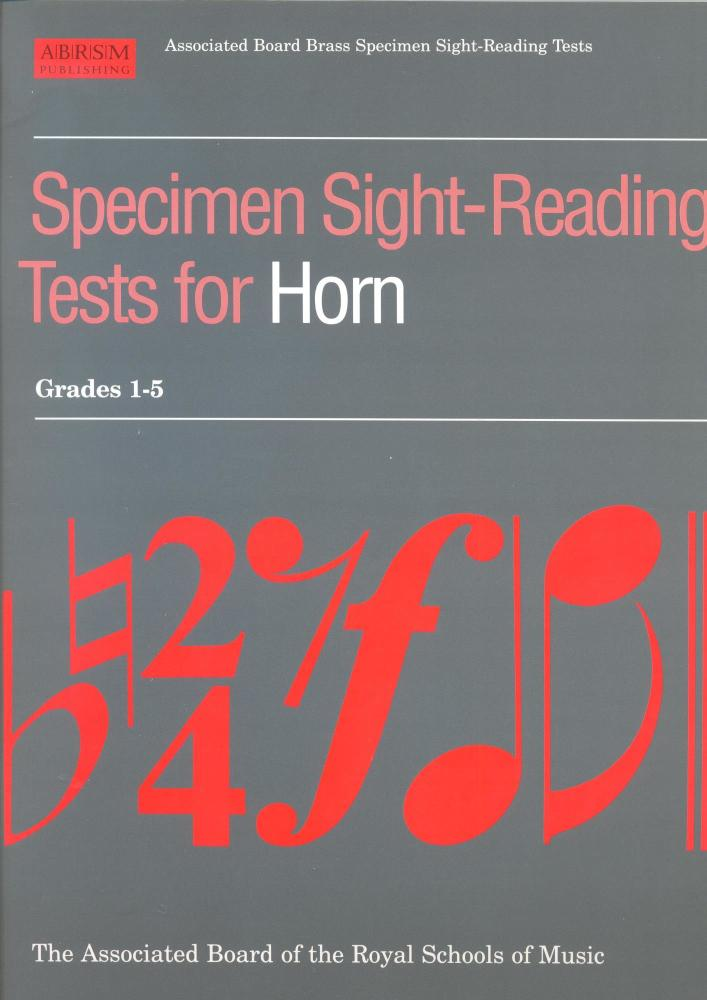 SPECIMEN SIGHT-READING TESTS FOR HORN: GRADES 1-5 HN BOOK