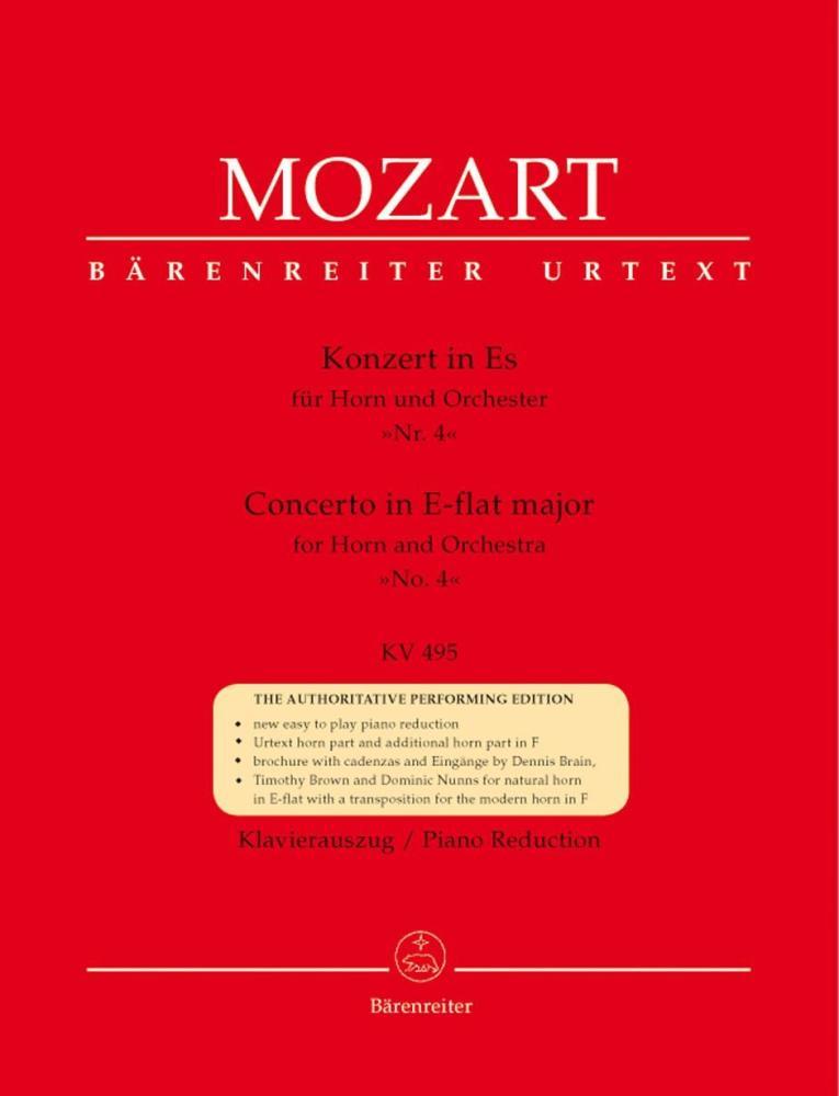 W.A. Mozart: Horn Concerto No.4 In E Flat K.495 - Horn/Piano (Barenreiter U