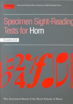 SPECIMEN SIGHT-READING TESTS - HORN GRADES 6-8 HN BOOK