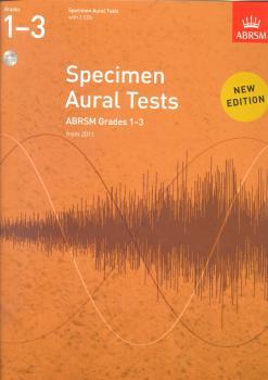 ABRSM Specimen Aural Tests - Grades 1-3 (2011+) Book/2 CDs
