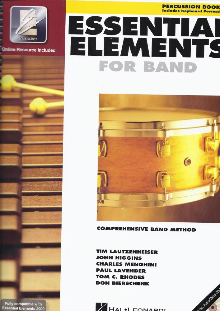 Essential Elements 2000 - Percussion Book 1 (Book/CD-ROM)