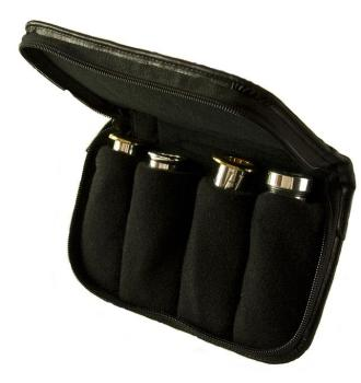 Denis Wick 4pc Mouthpiece Pouch - Leather Small Brass