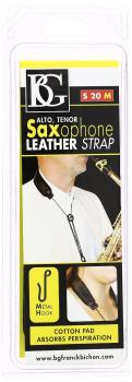 BG Leather Strap Alto/Tenor Sax, metal hooks