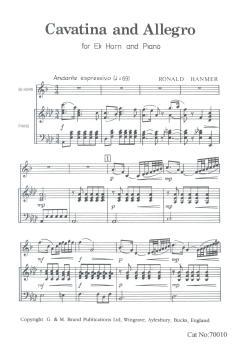 Cavatina and Allegro for Eb Horn, Ronald Hanmer