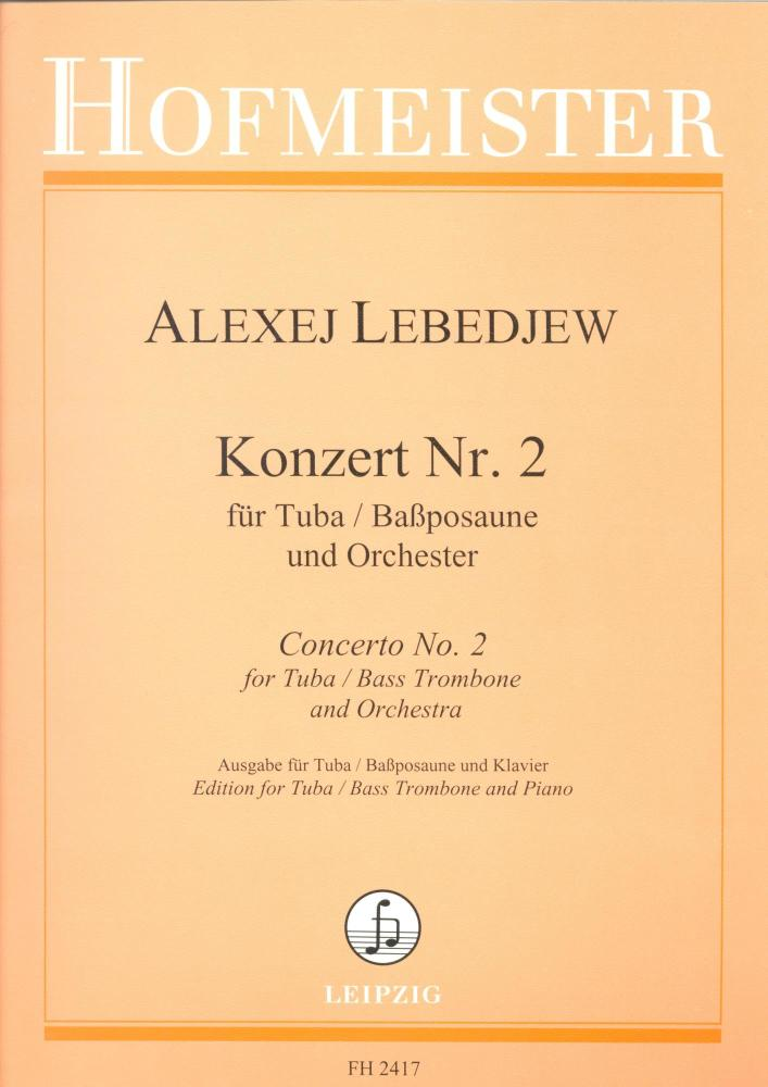 Concerto No. 2 for Tuba/Bass Trombone - Alexej lebedjew