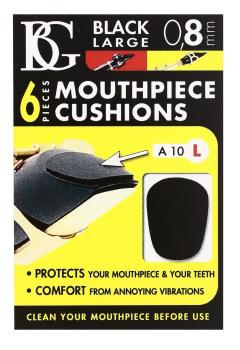 BG Large Mouthpiece Patch 0.8mm, black - Pack of 6