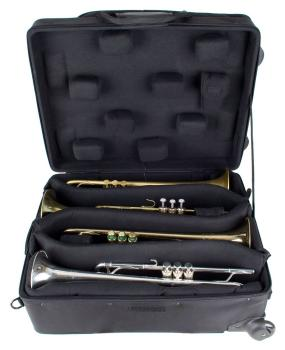 Pro Tec IPAC Quad Trumpet Case with Wheels