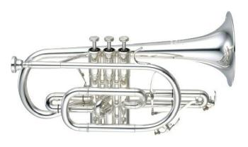 Yamaha YCR8335GS02 Bb 'Neo' Cornet in Silver Plate, Gold Brass Bell