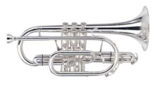 Besson BE928G-2-0 Bb Sovereign Cornet in Silver Plate