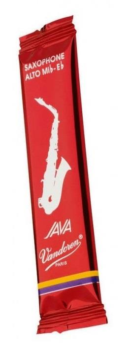 Vandoren Alto Sax Java Reed Red Cut Single - Strength 2.0
