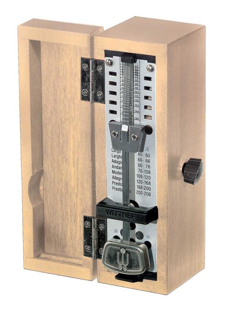 Wittner Taktell Supermini Metronome - Light Oak Box