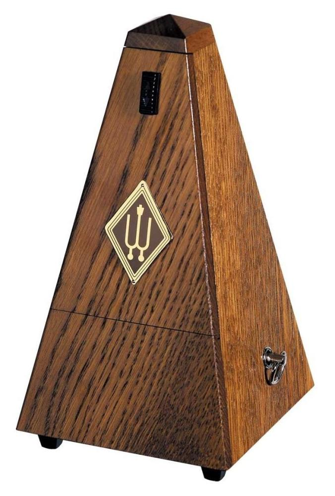 Wittner Wooden Metronome - Brown Oak & Bell