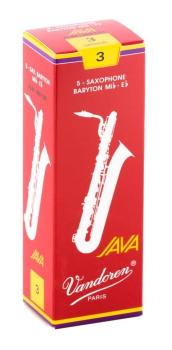Vandoren Baritone Saxophone Red Java Reed - Strength 3 (Box 5)