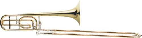 Conn 88HY Bb & F Yellow Brass Bell Trombone Closed Wrap