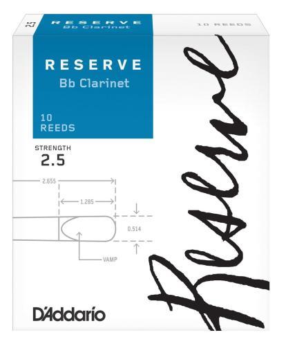 D'Addario Reserve Clarinet - 10 Pack 2.5