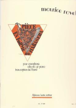 Maurice Ravel: Pièce en Forme de Habanera for Alto Saxophone and Piano