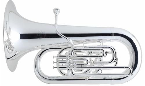 Besson BE782-2-0 EEb International Tuba Silver Plated with Case