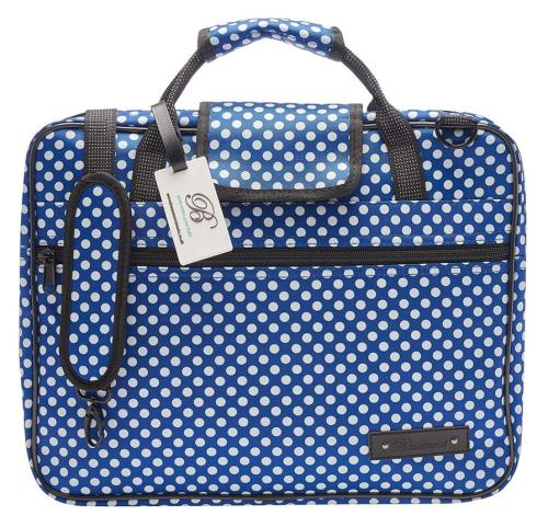 Beaumont Sheet Music Bag - Blue Polka Dot