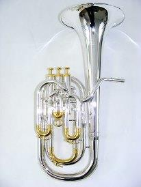 Sterling Virtuoso Baritone - Silver Plate Heavy Bell Gold Fittings