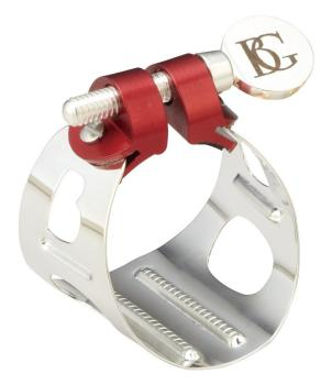 BG Alto Sax and Bb Clarinet Ligature Duo Metal - Silver
