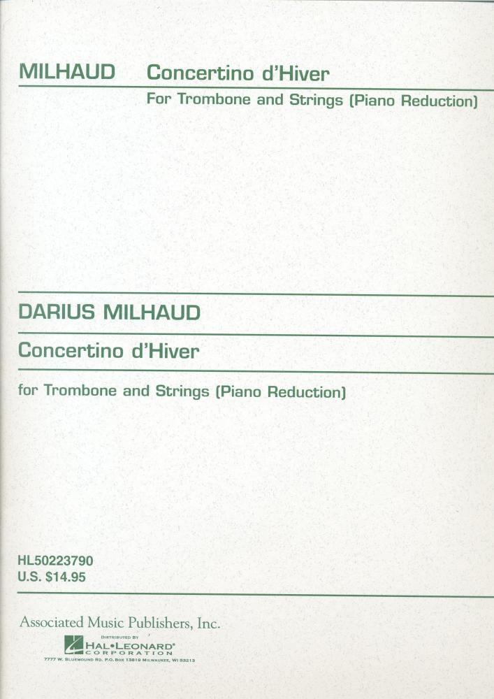 Milhaud Concertino D'Hiver TROMBONE