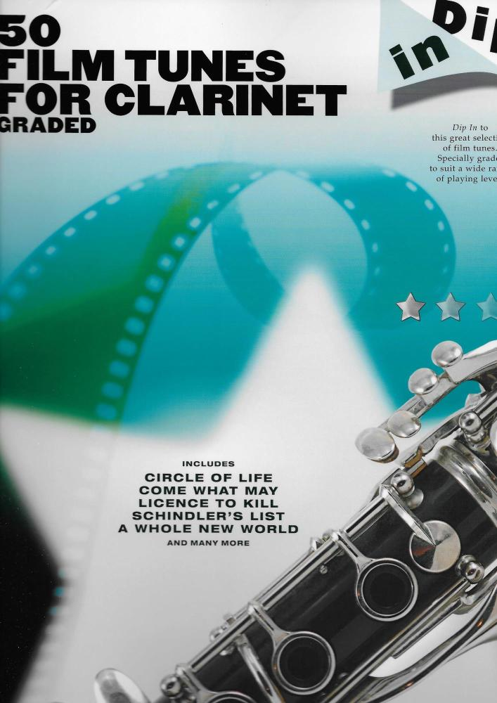 DIP IN 50 GRADED FILM TUNES FOR CLARINET CLT