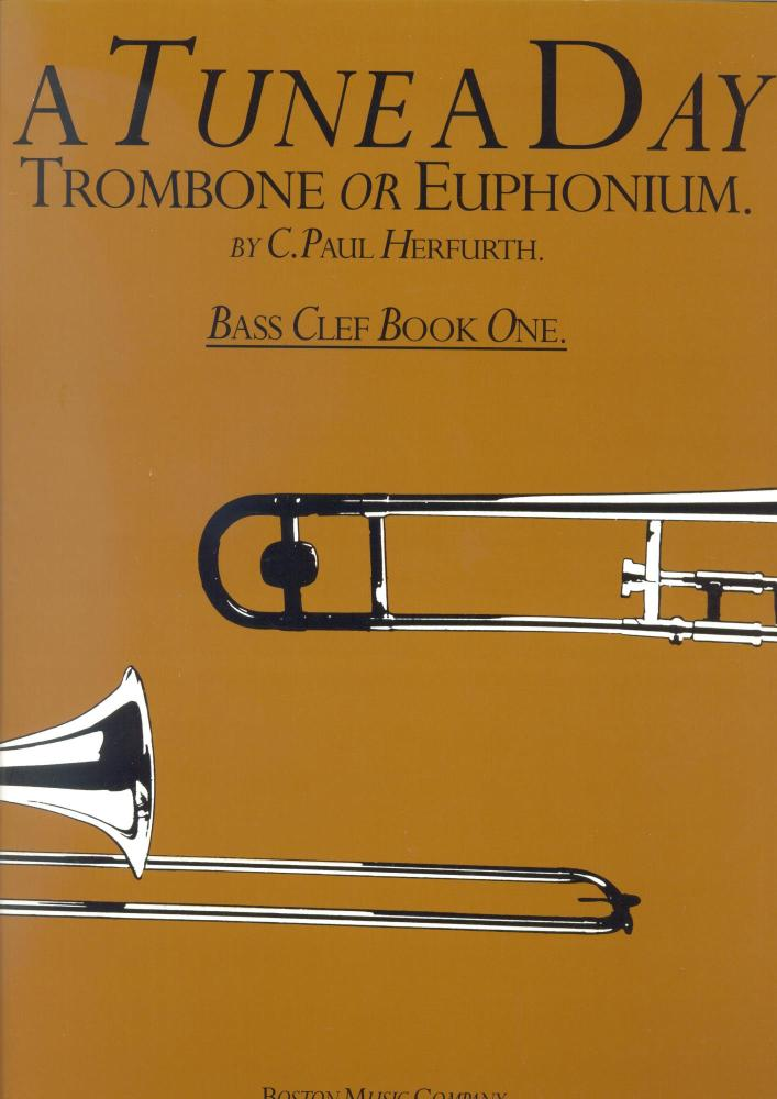 A TUNE A DAY FOR TROMBONE OR EUPHONIUM BASS CLEF BOOK ONE TBN