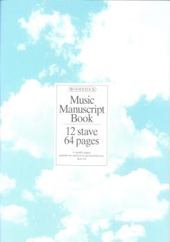 Woodstock Music Manuscript Paper: 12 Stave - 64 pages (A4 Stitched)