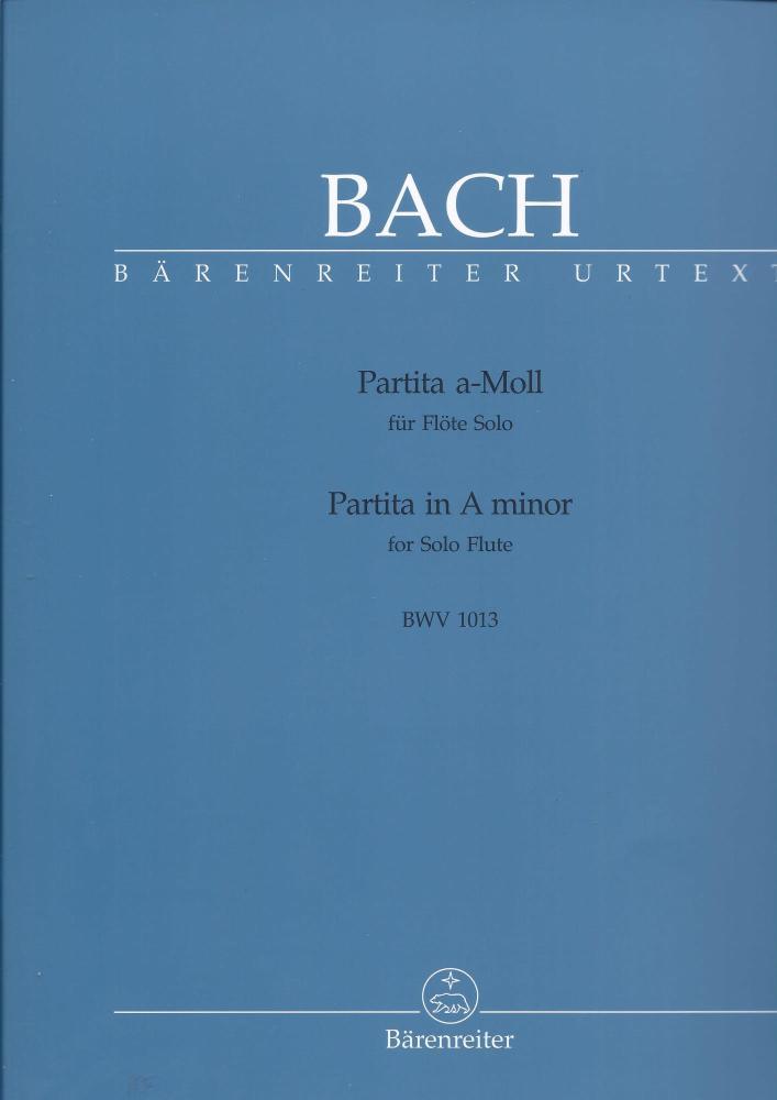 J.S. BACH PARTITA IN A MINOR FOR FLUTE BWV 1013 (BARENREITER URTEXT E