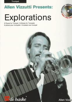ALLEN VIZZUTTI EXPLORATIONS FOR TRUMPET (BOOK AND CD) TPT BOOK/CD