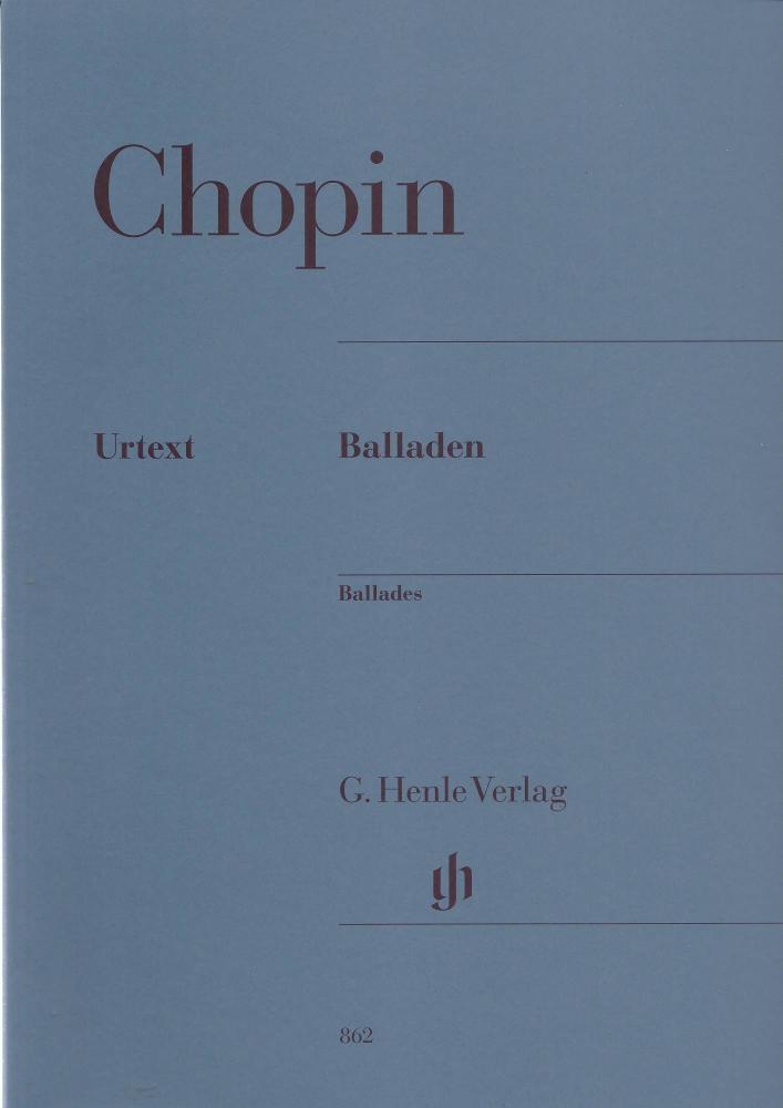 Frédéric Chopin: Ballades (Henle Urtext Edition)