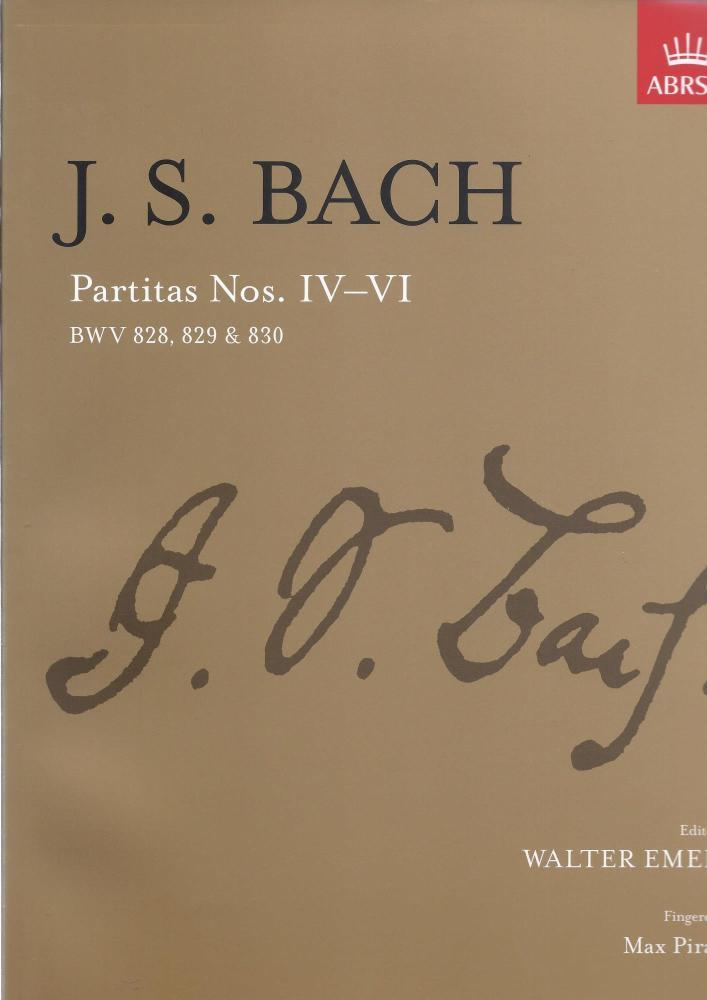 J.S. Bach: Partitas - Nos. IV-VI (ABRSM)