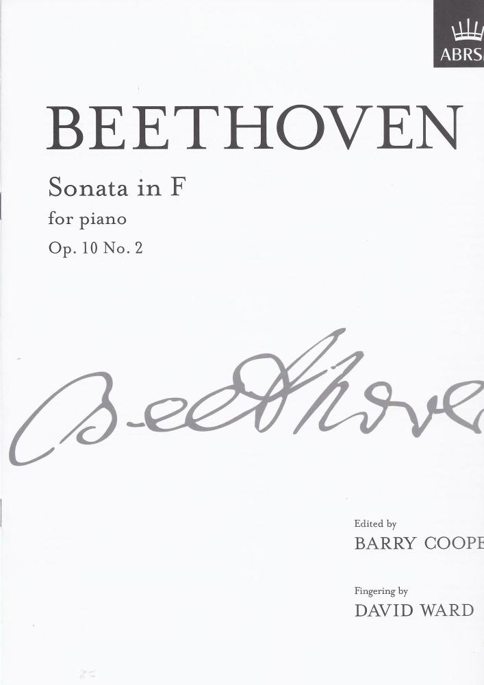 Beethoven Sonata in F Op10 No.2