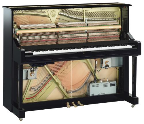 Yamaha U1TA TransAcoustic Upright Piano in Polished Ebony