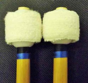 Timpani - Medium Flannel Disc Head Mallets - 28mm