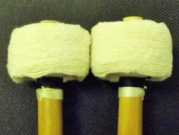 Timpani - Medium Flannel Disc Head Mallets - 35mm
