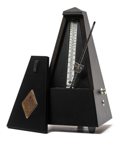 Metronome Black Matt with Bell