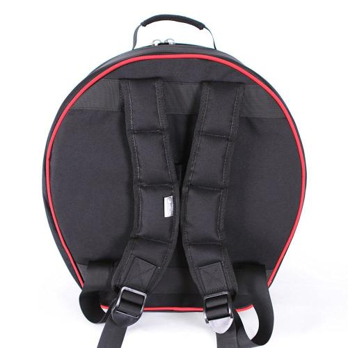 Attitude Busker Snare Drum Bag 14cm - Black and Red