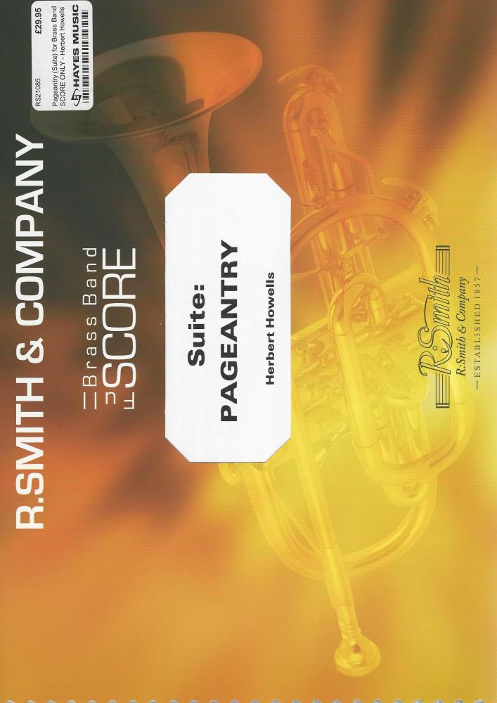 Pageantry (Suite) for Brass Band SCORE ONLY - Herbert Howells