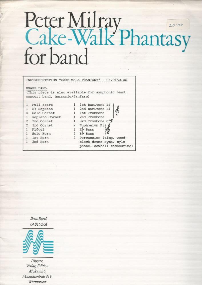 Cake-Walk Phantasy for Brass Band - Peter Milray