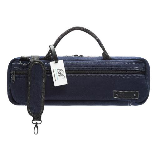 Beaumont Flute case cover - Blue Denim