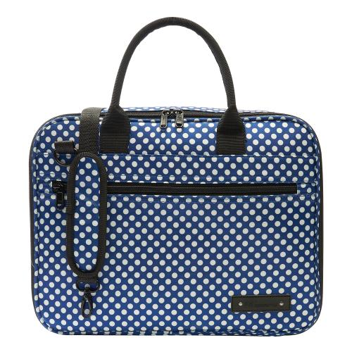 Beaumont Clarinet/Oboe case cover - Blue Polka Dot