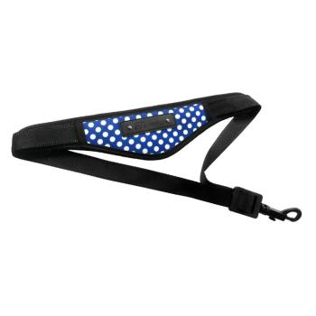 Saxophone Neck Strap - Blue Polka Dot