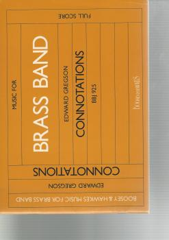 Connotations for Brass Band (Score Only) - Edward Gregson