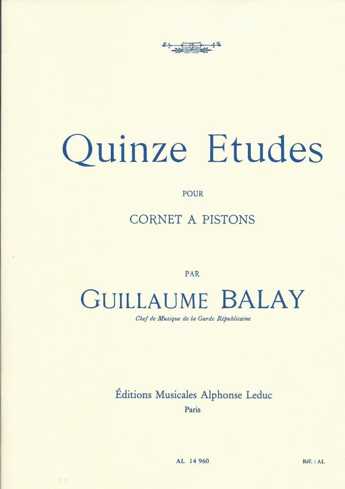 Quinze Etudes pour Cornet (Balay)